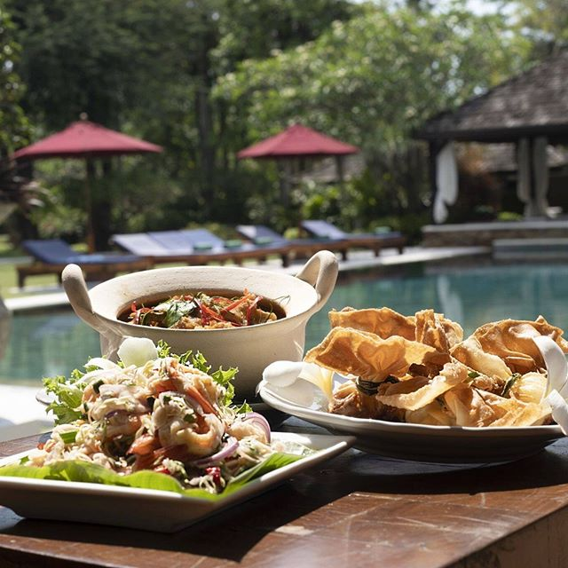 A light Thai lunch by the pool at the Exclusive Villa 😋