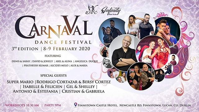 Dublin, Salsa, Bachata Festival - 7th - 9th of February 2020 | 3 nights of dance | 3 party rooms | 4 rooms for workshops | Bootcamps & Amazing shows