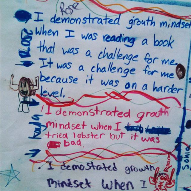Growth mindset in 4th grade.