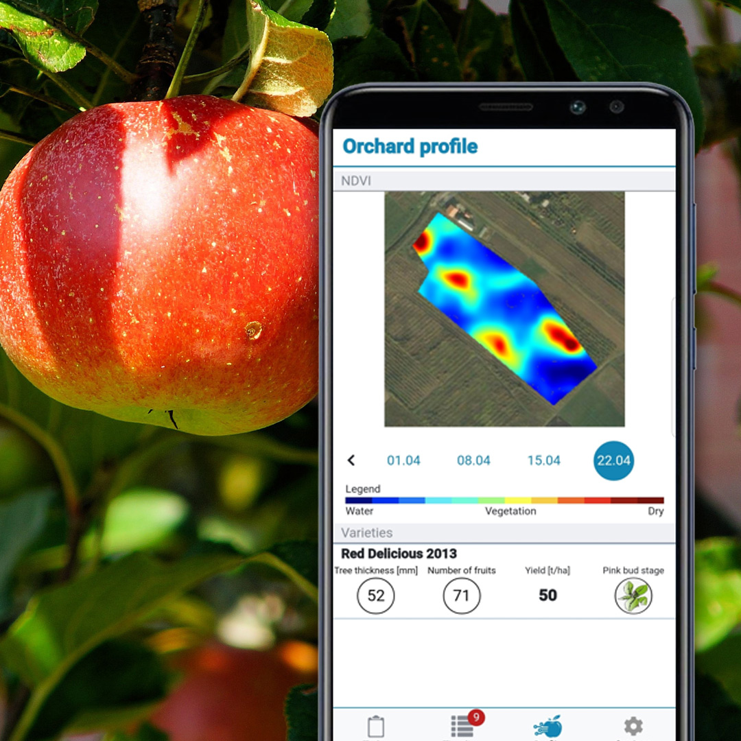 What is MapMyApple? - MapMyApple is a mobile application specially designed for apple growers who want to follow all aspects of long-term apple growing, increase its yield and quality, and increase profits.