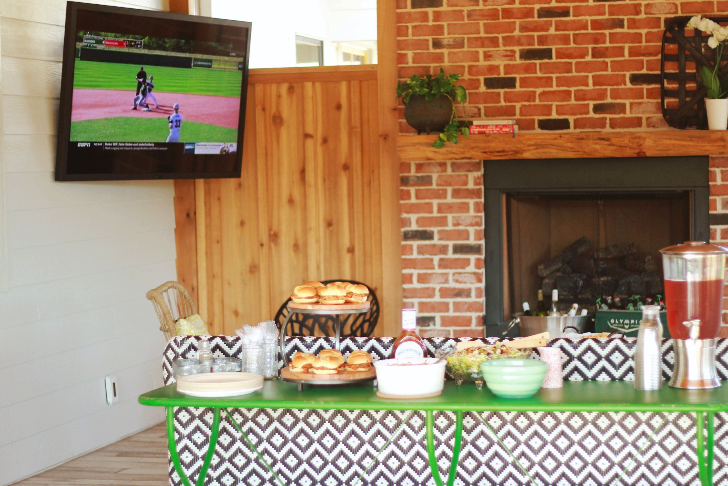 Watch the big game, enjoy delicious food, and take in the views of the farm!