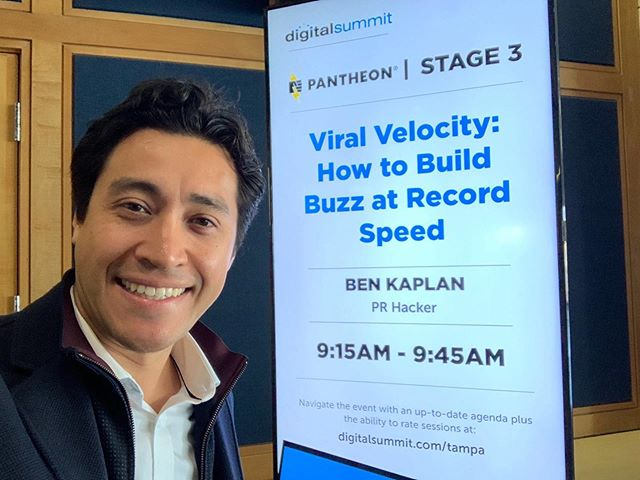 Had the best time at #DSTPA! Despite the early morning call time, the crowd was jazzed about helping #tampa businesses find #viralvelocity.  Thanks to all who attended!