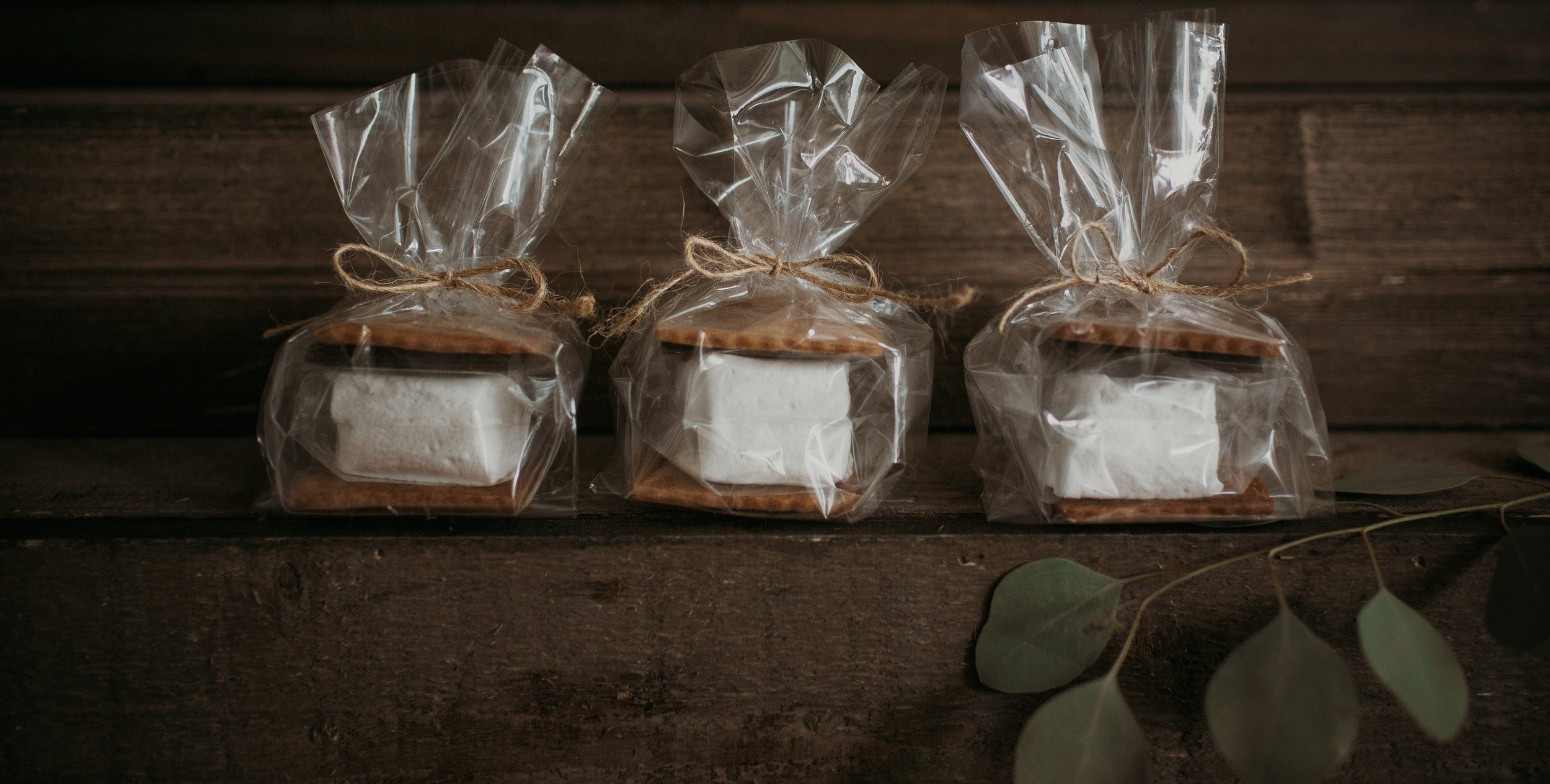 s'mores favors - we package individual s'mores for all your guests