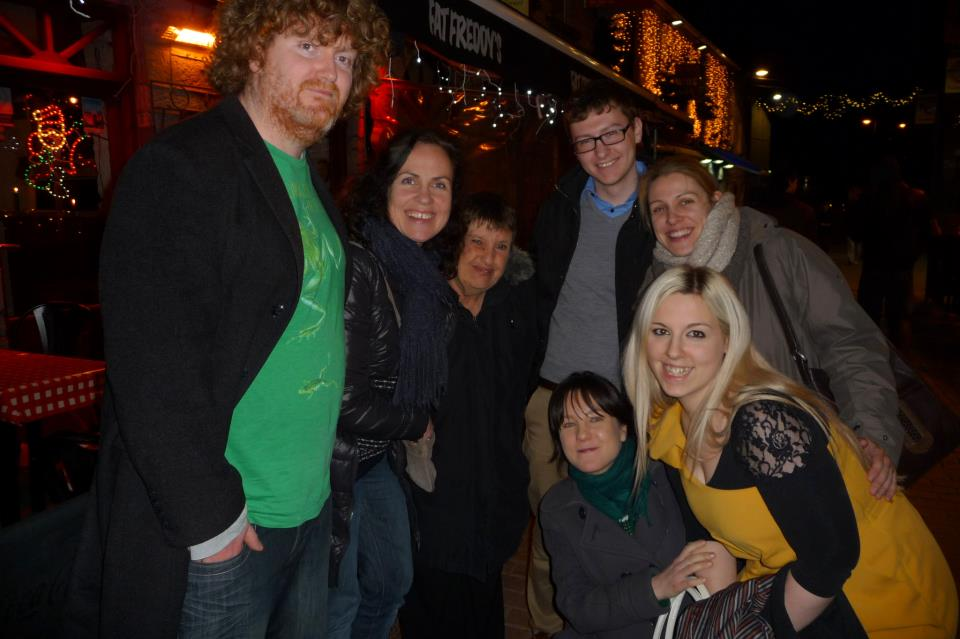 Christmas 2012 John Carrigy, Jean Parkinson, Jo Greenfield, Megan Buckley, Philip Connor and Olivia Lally..jpg