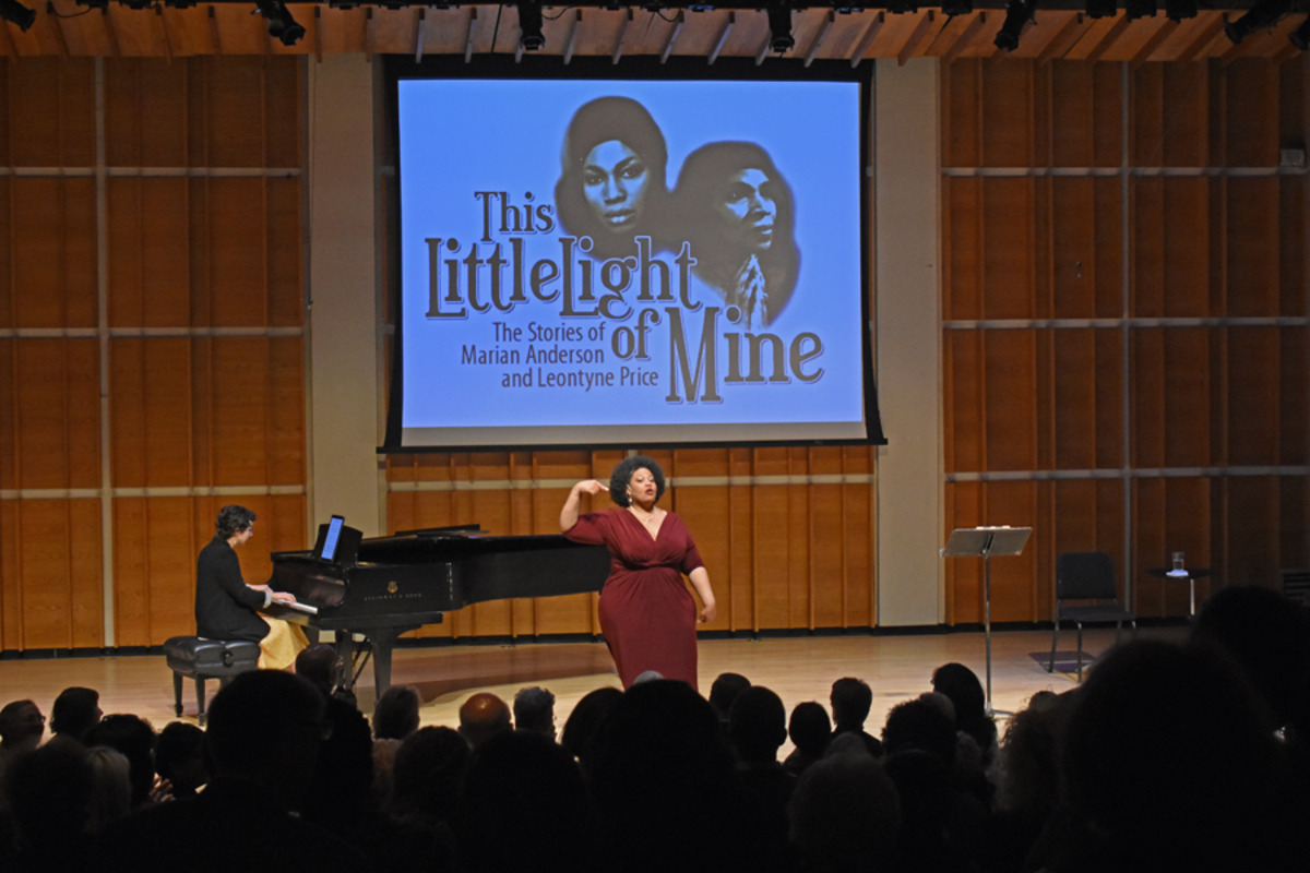 Pictured: Mila Henry (at piano) and Adrienne Danrich Photo by Tina Buckman