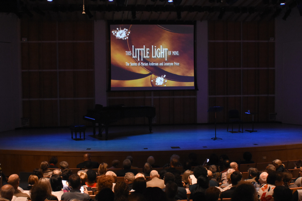 Pre-show at Merkin Concert Hall at Kaufmann Center. Photo by Tina Buckman
