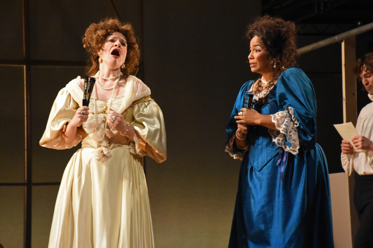 Lady Meresvale (E. Pojanowski) and Miss Frayne (H. Hill) - Photo by Tina Buckman