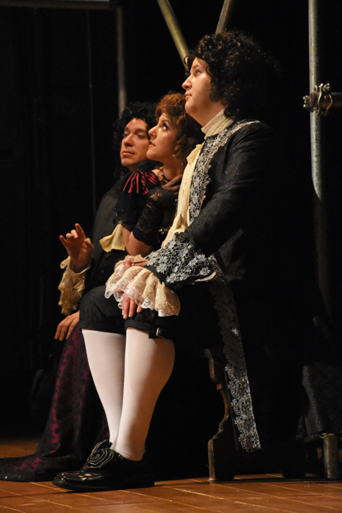 Charles II (N. Simpson), Nell Gwynn (S. Apostolou), and Hyde (D. Klein)