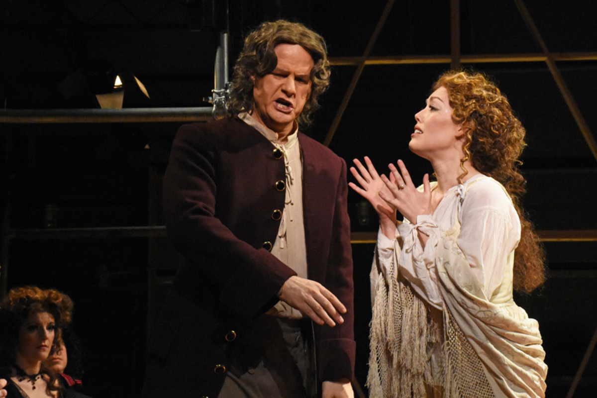 Thomas Betterton (M. Curran) and Margaret Hughes (J. Sandidge) - Photo by Tina Buckman