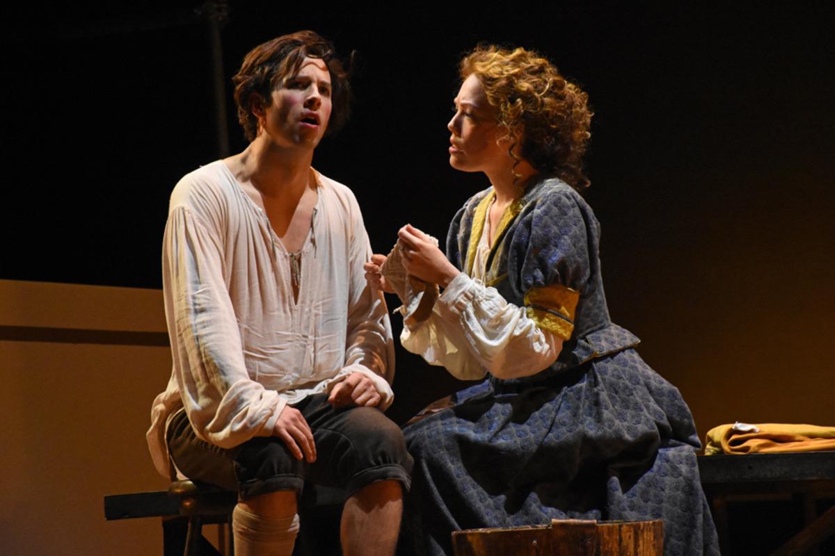 Kynaston (S. Owens) and Margaret Hughes (J. Sandidge) - Photo by Tina Buckman