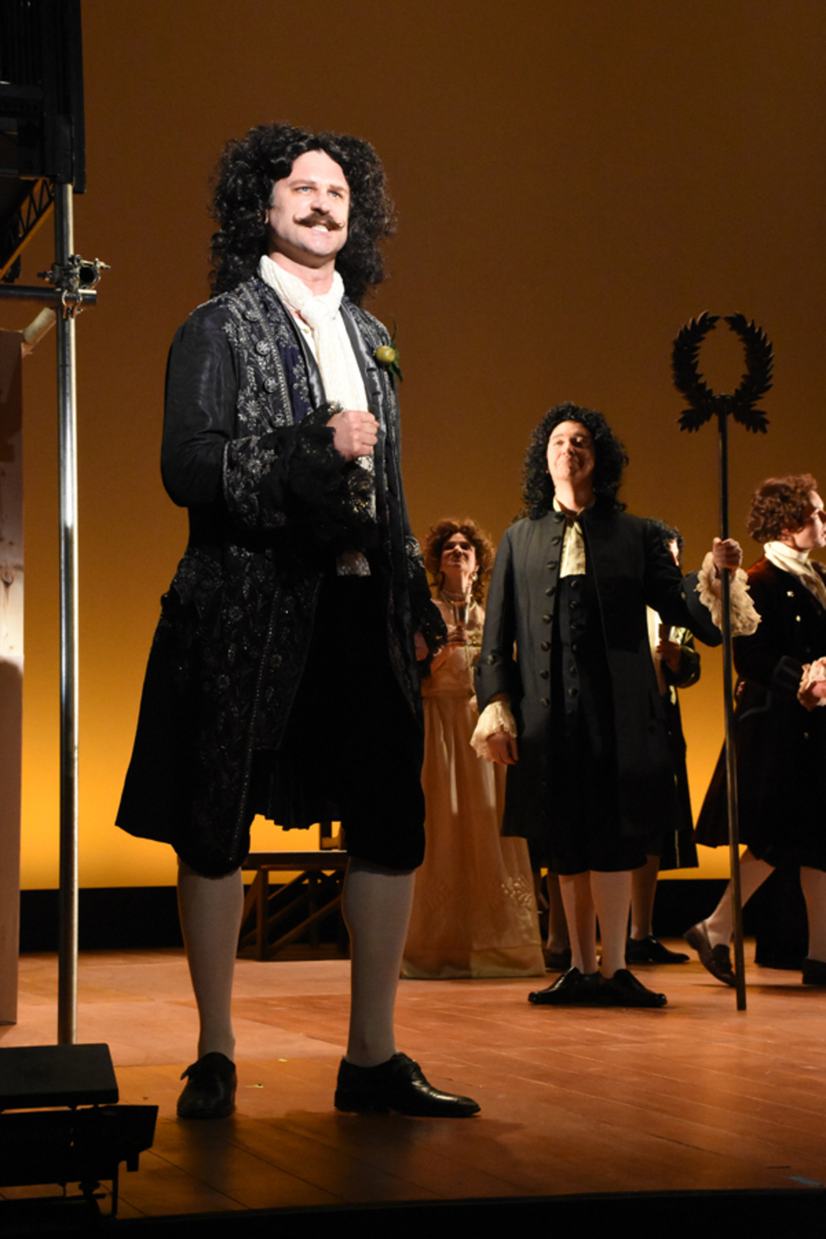 Charles II (M. Schreiner), with the court looking on - Photo credit Tina Buckman