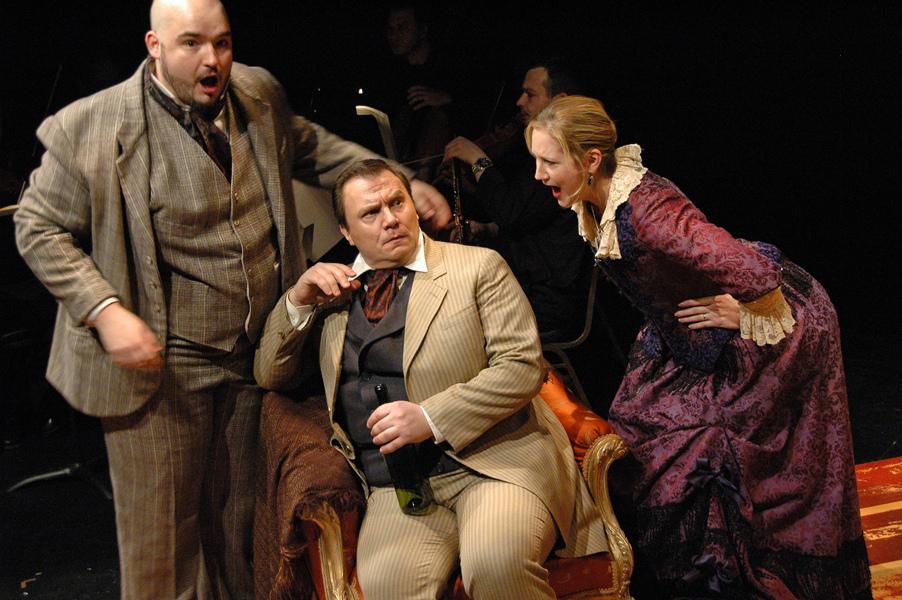Mathurin (A. Webb), Lucas (R. Loyd), and Mathurine (T. Buchholz) - Photo by Tina Buckman