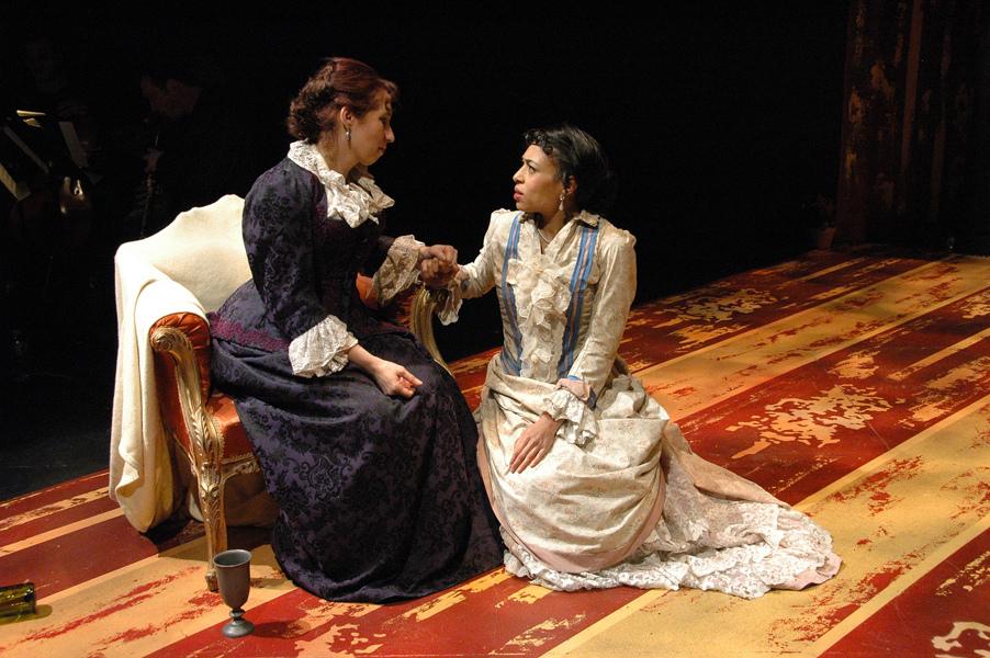 Mathurine (A. Tonna) and Colette (C. Hoyes) - Photo by Tina Buckman