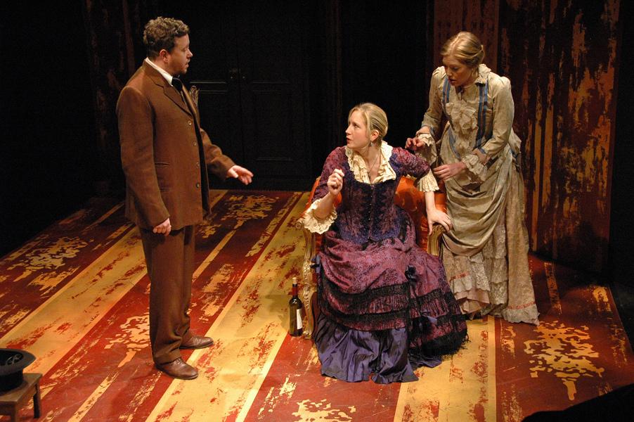 Cleon (M. Boley), Mathurine (T. Buchholz) and Colette (J. Sandidge) - Photo by Tina Buckman