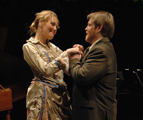 Colette (J. Sandidge) and Cleon (J. Winell) - Photo by Tina Buckman
