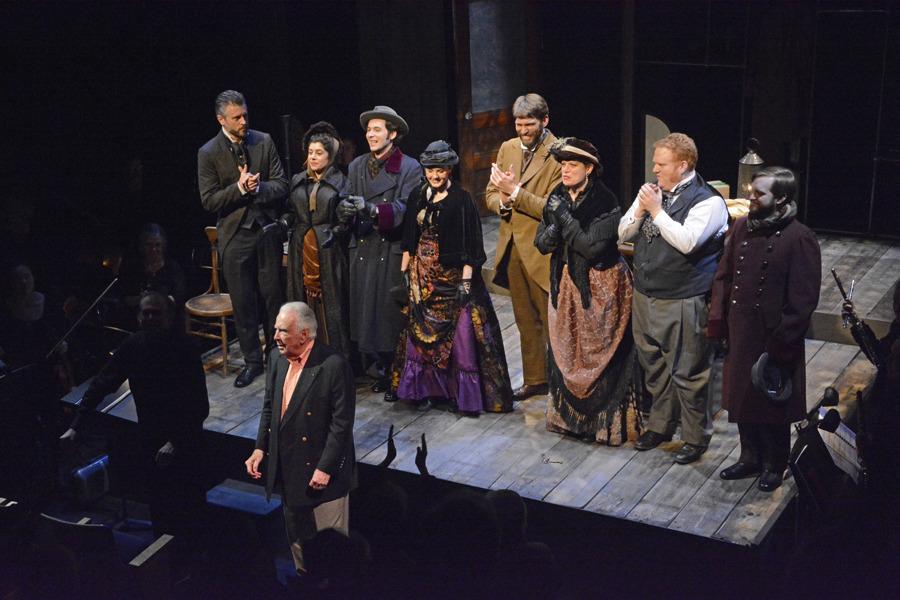 Curtain Call, L to R: Tuell, Mannino, Balonek, Castells, Putnam, Kaneklides, Meyerson, Turner