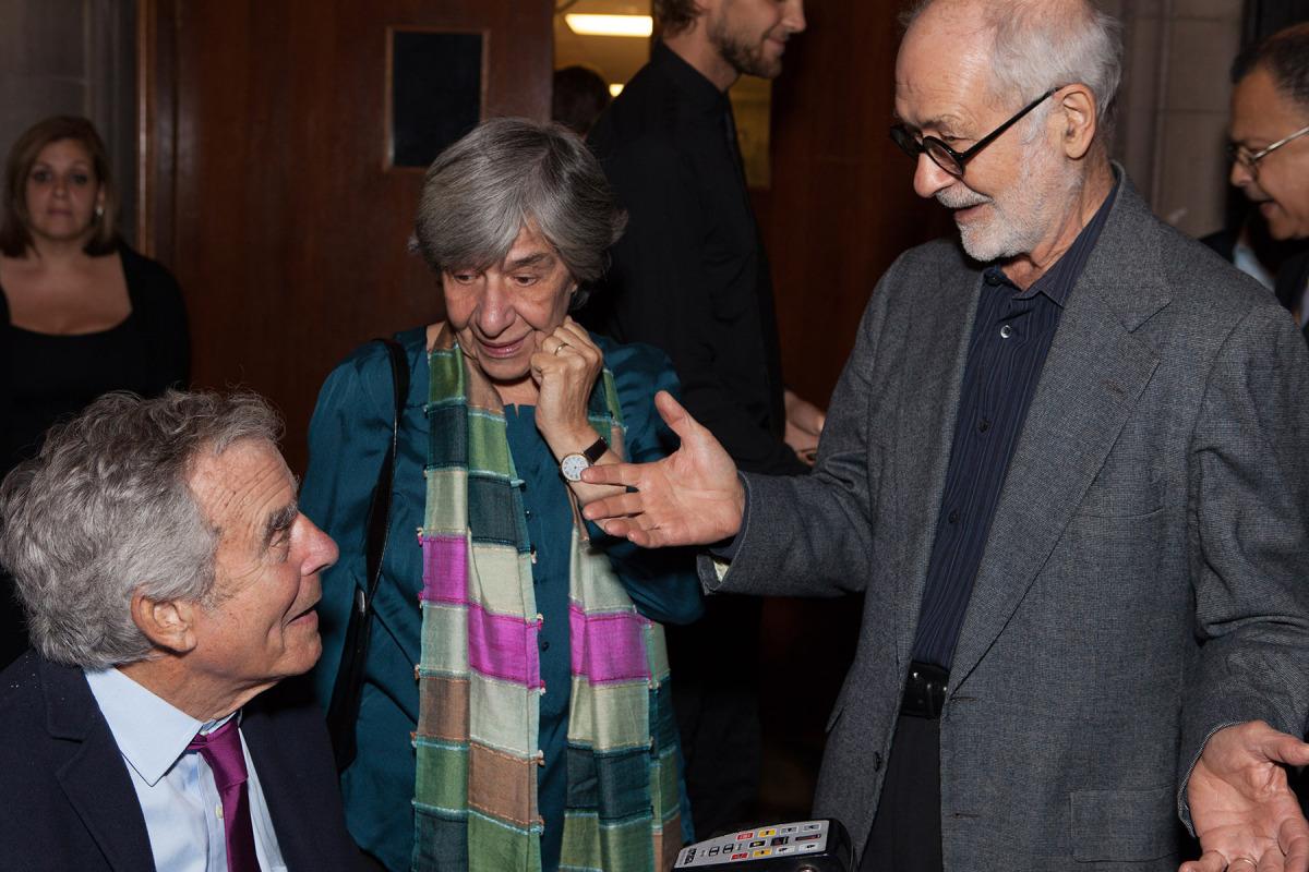 Honoree Jack Macrae with Linda & Hans Haacke