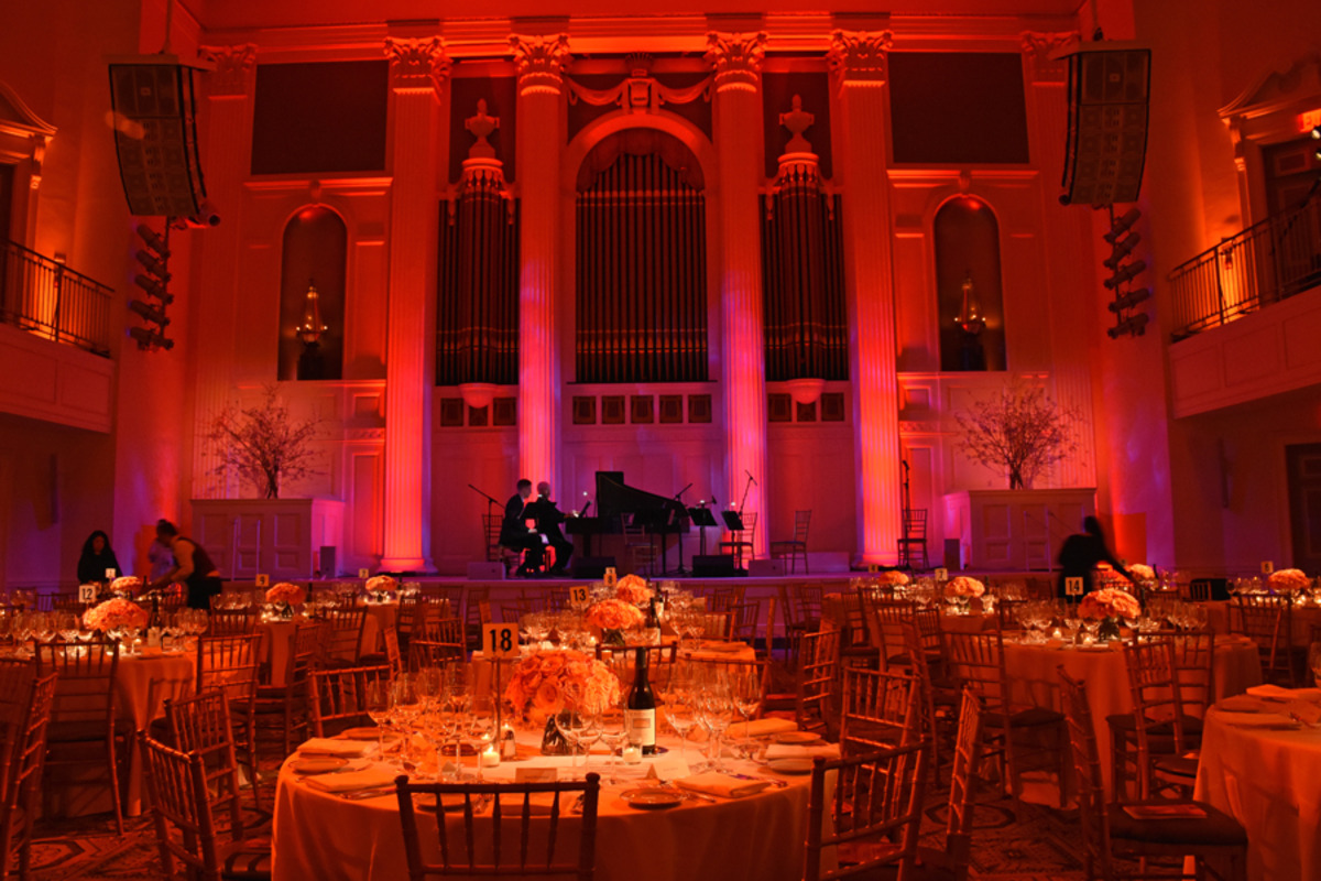 Just before the guests arrive at 583 Park Avenue