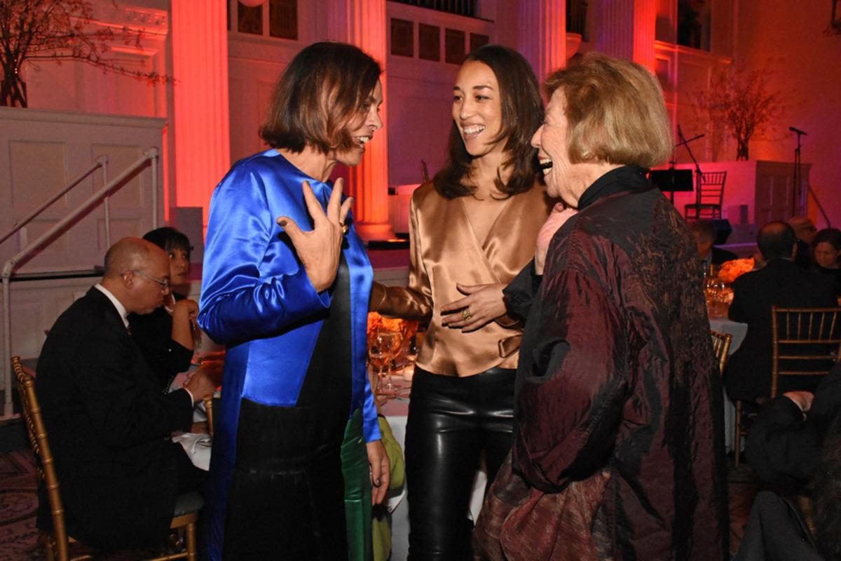Louise Eliasof, Alexis Johnson, and Margo Leavin