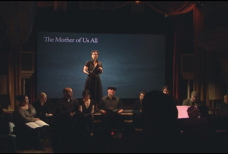 THE MOTHER OF US ALL - Act 1, text by Gertrude Stein, music by Virgil ThomsonThe Box, April 2008Production creditsGallery