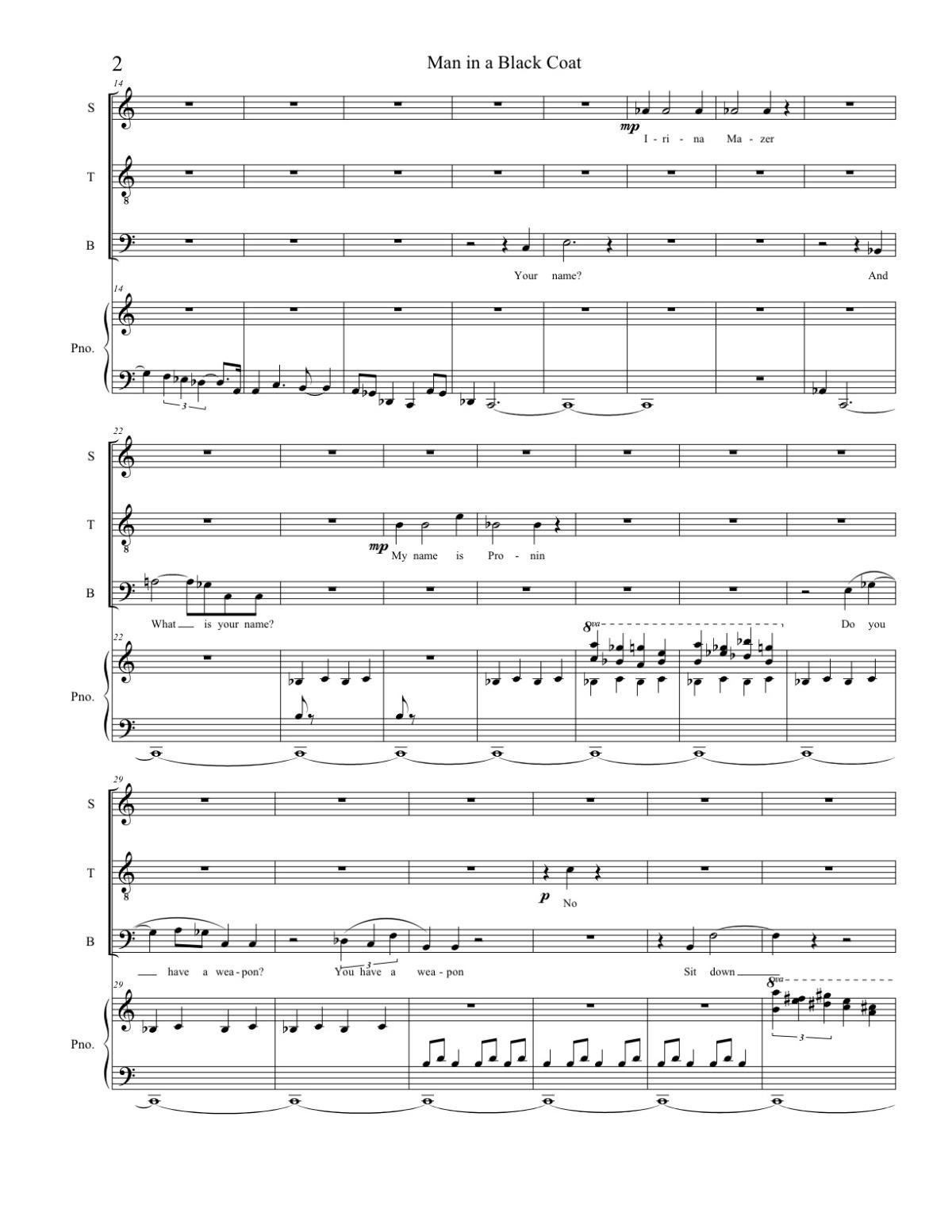 NEW VOICES - a concert featuring three living composers: Edward Ficklin, Kim D. Sherman, & Inessa ZaretskyThe Kosciusczko FoundationApril 2009Production credits