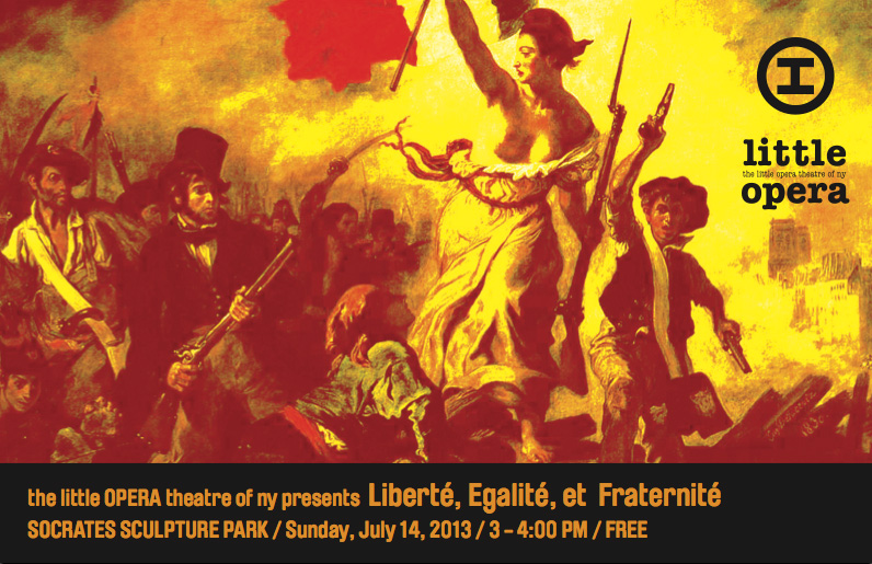Liberté, Egalité, et Fraternité - July 14, 2013 at Socrates Sculpture Park