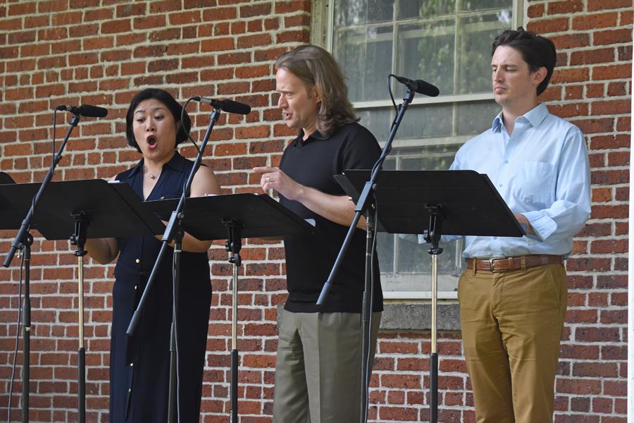 Ryu-Kyung Kim, Keith Harris, and Daniel Curran. Photo by Tina Buckman
