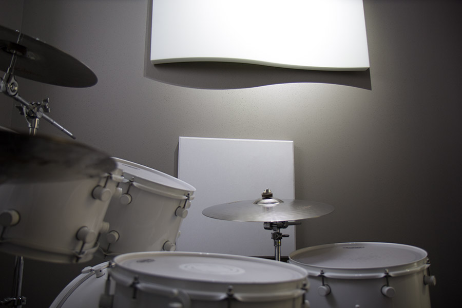 Drum Room - For drummers only, the drum room comes with a 5pc kit and everything you need to practice solo (minus a crash cymbal). Be sure to check out the online scheduler for package deals! $9/hour (less for multiple hours).