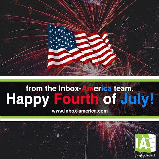 Happy Fourth of July Weekend from the Inbox America team! #inboxamerica . . . . . #marketing #bigdata #ai #digitalmarketing #consulting #internships #beautifuldata #analytics #tech #retail #luxury #furniture #datascience #fourthofjuly