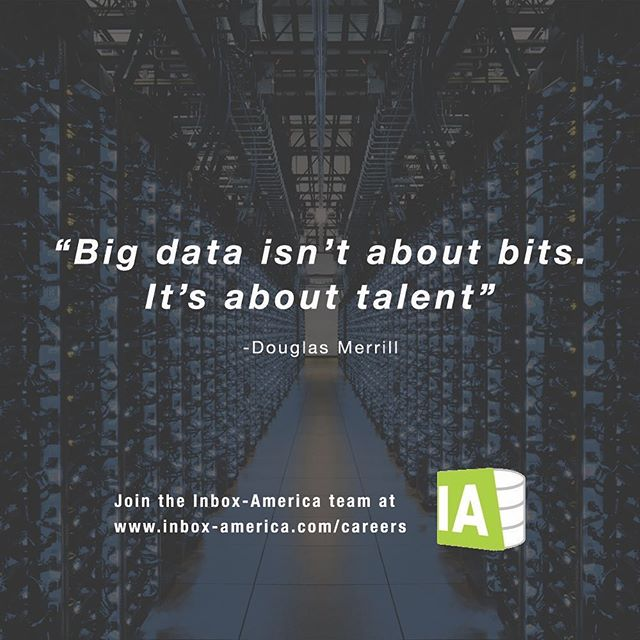 Leverage the power of your business data with the assistance of our talented team here at Inbox America! Reach us at contact@inbox-america.com for more information. . . . . . . . . . #data #bigdata #retail #luxury #sales #consulting #internships #georgetown #marketing #digitalmarketing #ai #machinelearning #motivationmonday #inboxamerica #tech #technology #inspiration #luxurydesign