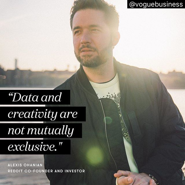 """Alexis Ohanian (@alexisohanian) is best known as the co-founder of Reddit and the husband of Serena Williams, but he is also the financial powerhouse behind a number of tech startups that bring data-driven efficiency to the fashion industry. In June, his company, Initialized Capital, led a $1.8 million seed round in data analytics firm Spate, which uses online search data to identify consumer sentiment in categories like food, beauty and fashion. """"Fashion is a lot like software because if we come out with a new feature, we know that our competitors can copy it pretty quickly,"""" says Ohanian. """"Once something hits the runway, it's being interpreted and remixed and then repurposed and reimagined instantly."""" To read the full Vogue Business interview with Alexis, visit @voguebusiness.  Photo: J.N. Silva ... . . . . . . . . . . . .  #inboxamerica #data #datadriven #bigdata #bigdataanalytics #CMOs #tech #techworld #coding #analytics #artificialintelligence #machinelearning #marketingstrategy #marketing #digitalmarketing #consulting #internships #georgetown #graphic #art #madonna #alxcommunity #luxury #retail #furniture"""