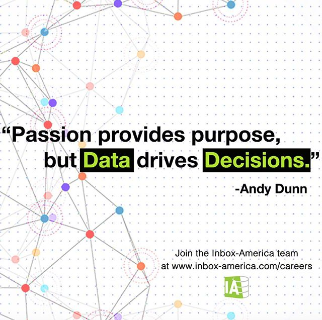 Improve your business decision-making process with data-driven, AI-powered insights. To learn how we can help you leverage your data, reach us at contact@inbox-america.com #inboxamerica . . . . . . #data #datadriven #datasciencedc #datascience #marketing #digitalmarketing #consulting #analytics #bigdata #bigdataanalytics #CMOs #virginiatech #georgetown #gwuniversity #tech #artificialintelligence #machinelearning #georgemasonuniversity #internships #business #inboxamerica #ai