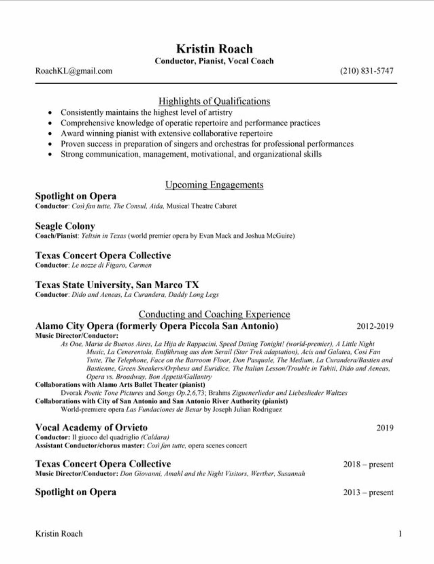 CV/Résumé