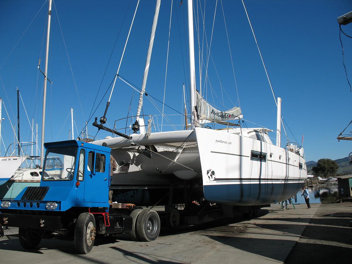 Hauled w/ Brownell hydraulic trailer