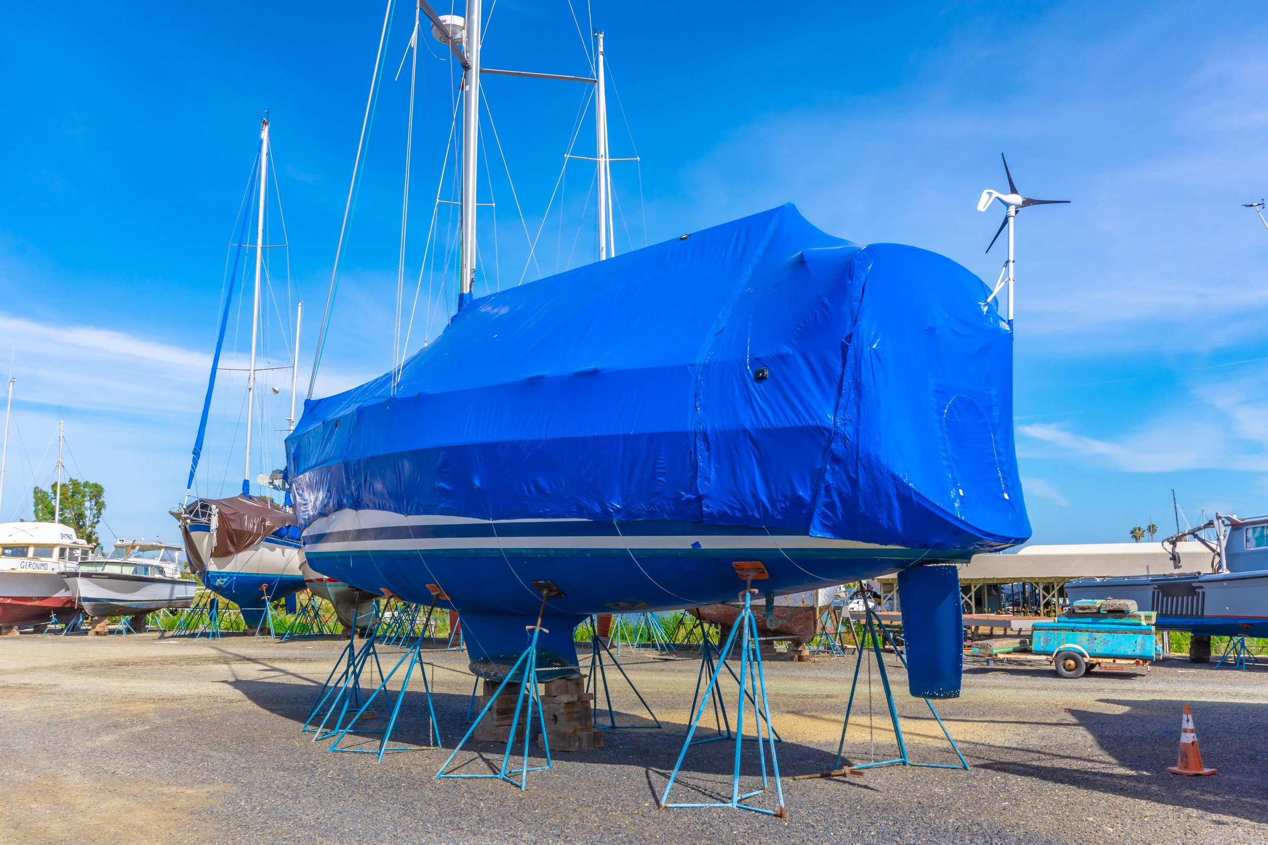 We can wrap your boat long term