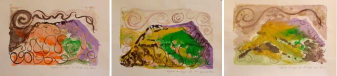 Regan O'Callaghan Mojacar la Vieja , Mountain, mono prints, Art residency, snake