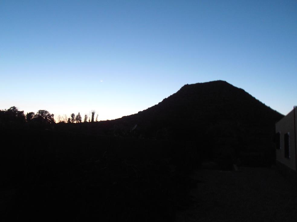 Regan O'Callaghan Mojacar la Vieja, evening, sun setting, Andalucia, Spain, art residency