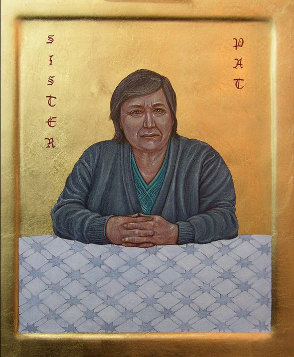 Sister Pat. Tempera and Gold Leaf on gesso panels. 25 cm x 30 cm. 2011.