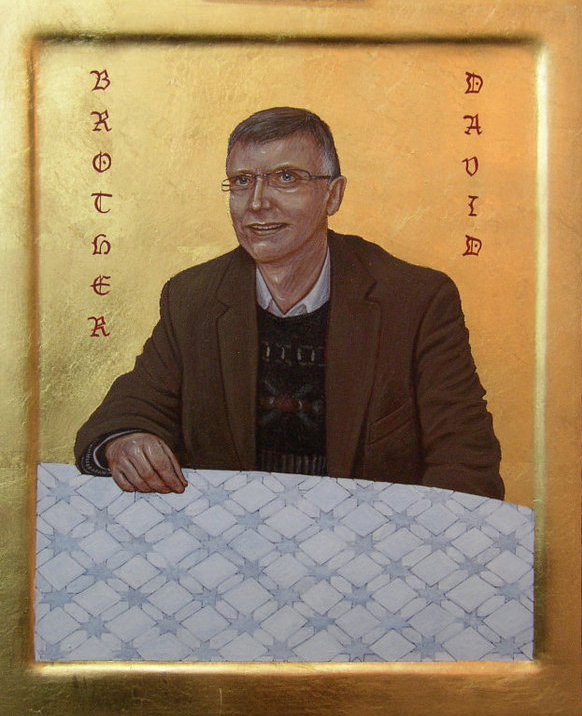 Brother David. Tempera and Gold Leaf on gesso panel.  25 cm x 30 cm. 2011.