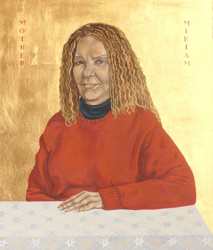 Mother Miriam. Tempera and gold leaf on gesso panel. 35 cm x 40 cm. London. 2007.