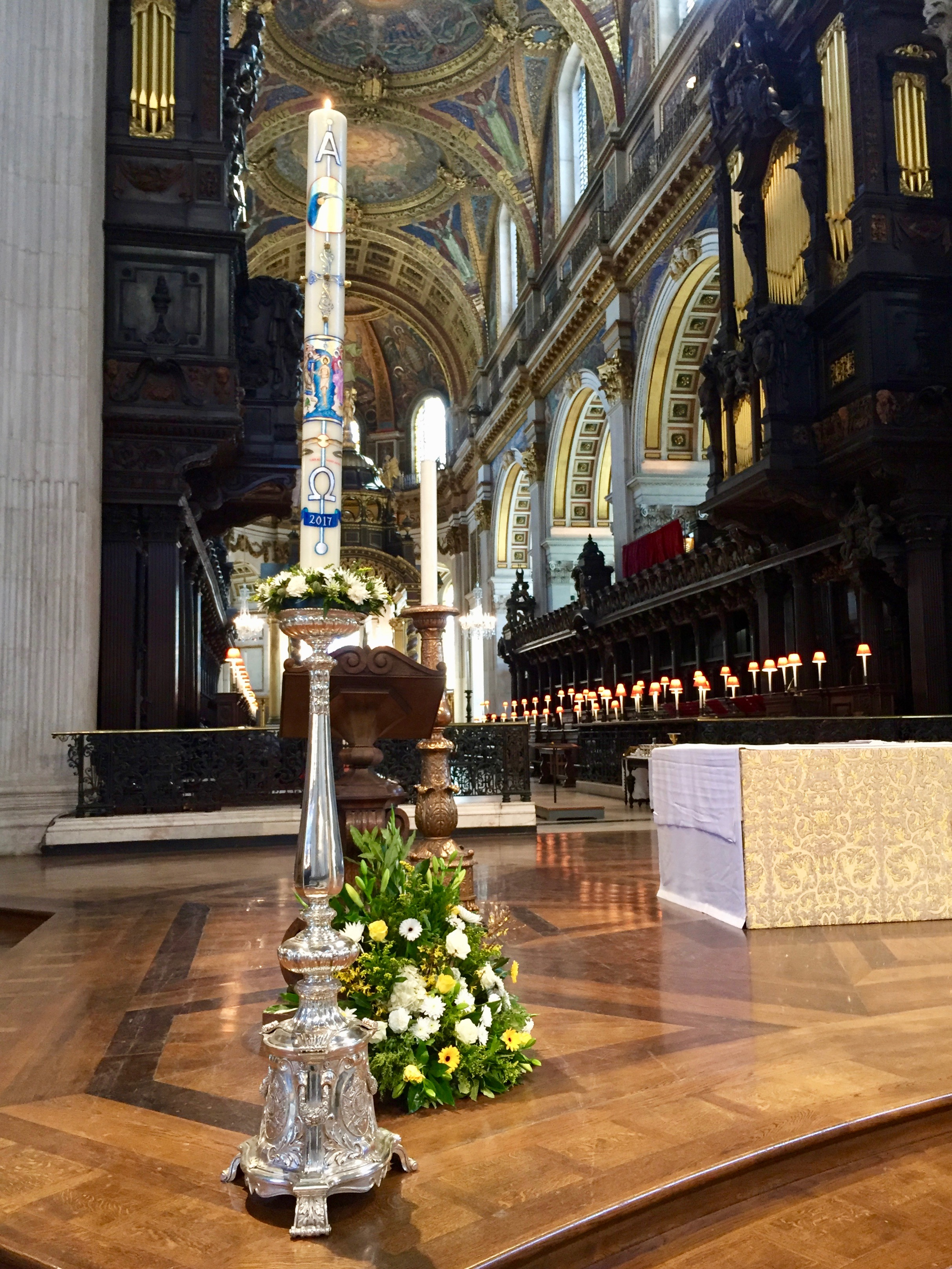 Paschal Candle Saint Paul's Cathedral, London 2017