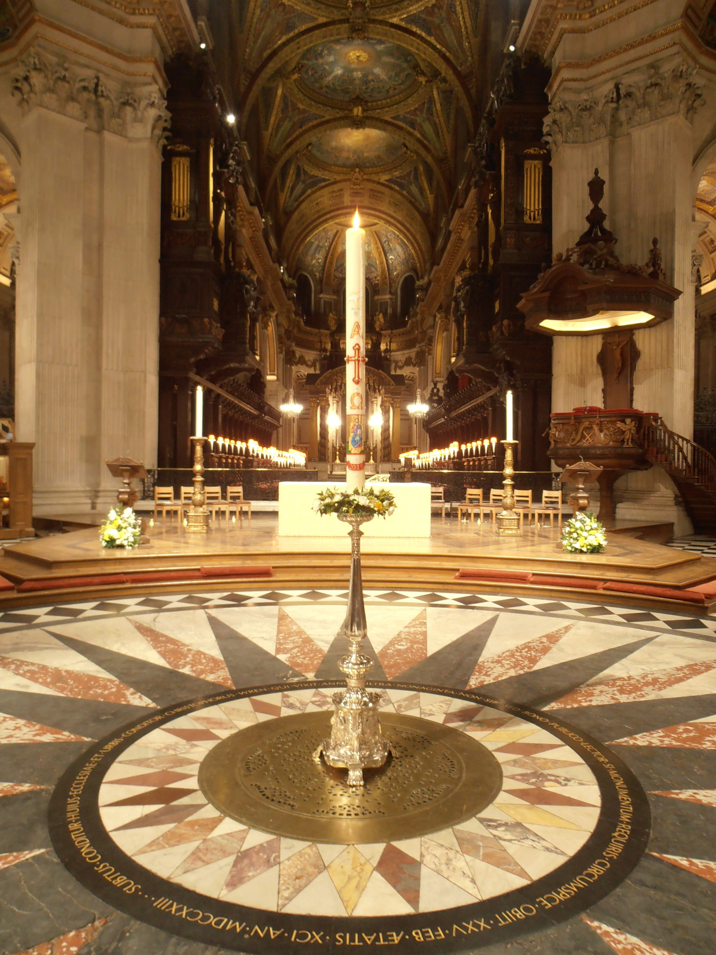 Paschal Candle Saint Paul's Cathedral, London 2015