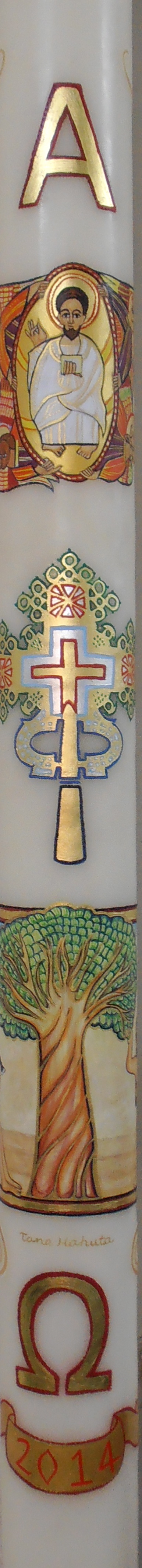 Paschal Candle. Saint Paul's Cathedral, London 2014