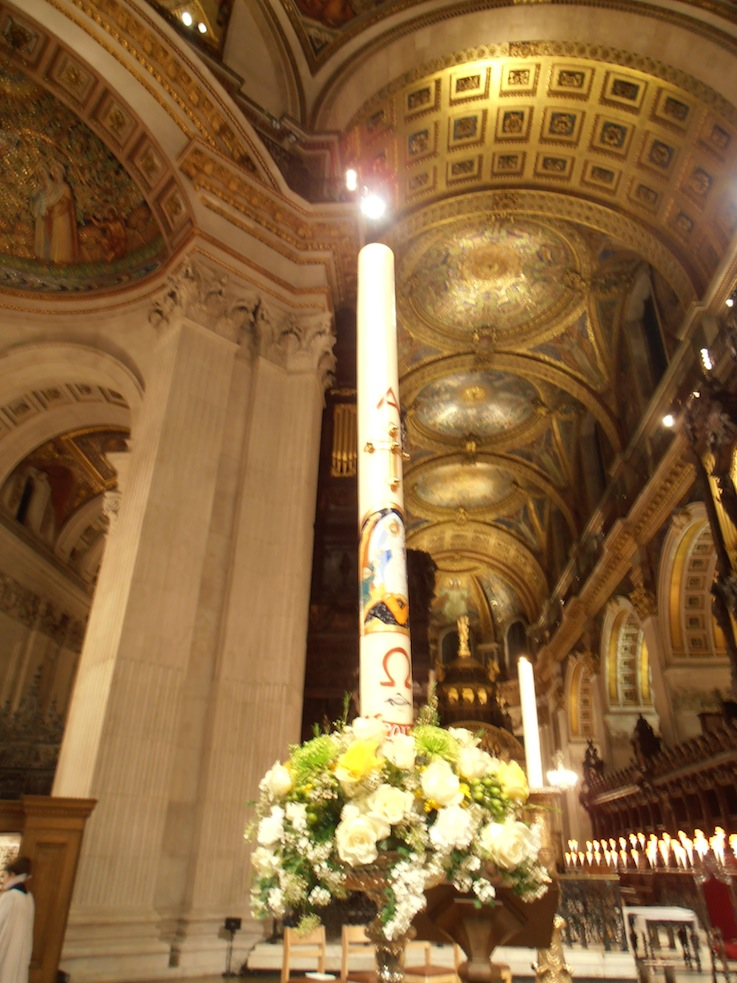 Paschal Candle. Saint Paul's Cathedral, London 2012.
