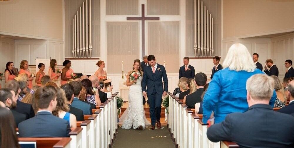 Falmouth Congregational Church is a warm and welcoming place for weddings, Memorial Services, and ushering people into Christian community through baptism.