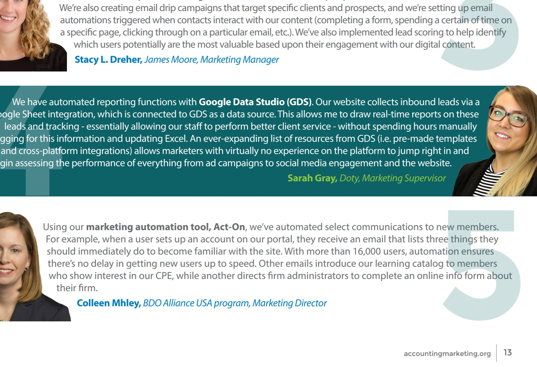 Association for Accounting Marketing Spring/Summer 2019 Growth Strategies issue on Automation,  Take 5 Feature
