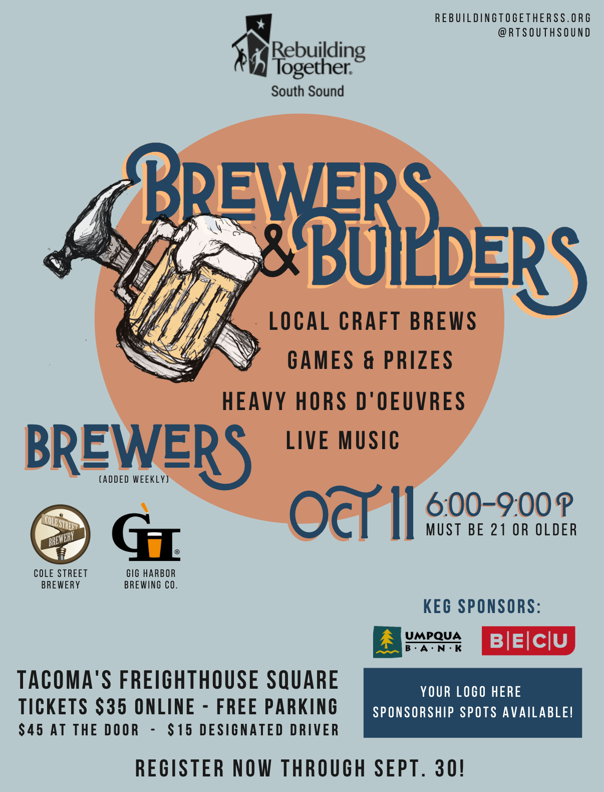 Brewers and Builders 2019 Poster Design by Sarah Gray