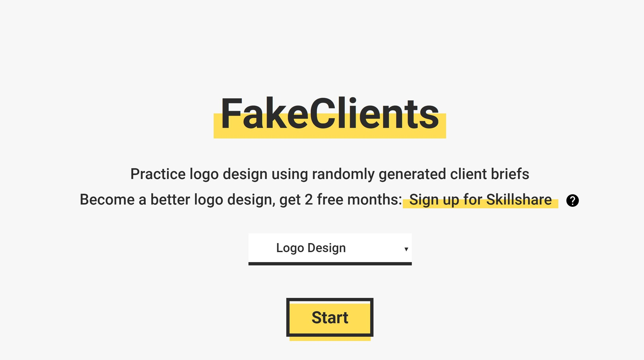 FakeClients - When you're stalled and looking for some inspiration for practice design, FakeClients can help you get started.