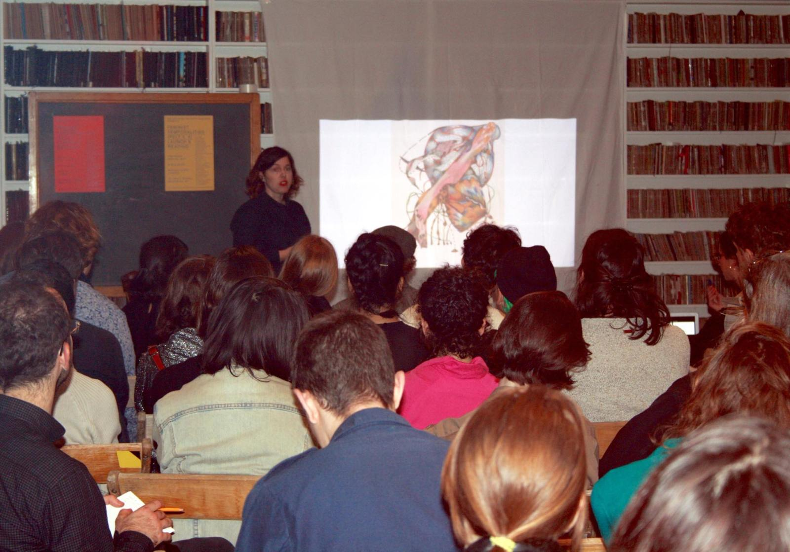 2017: Performance and update of  Sonata Bathetique in C-  to launch  Feminist Temporalities  with the   Organism for Poetic Research   at the   Brooklyn Art Library     in New York.