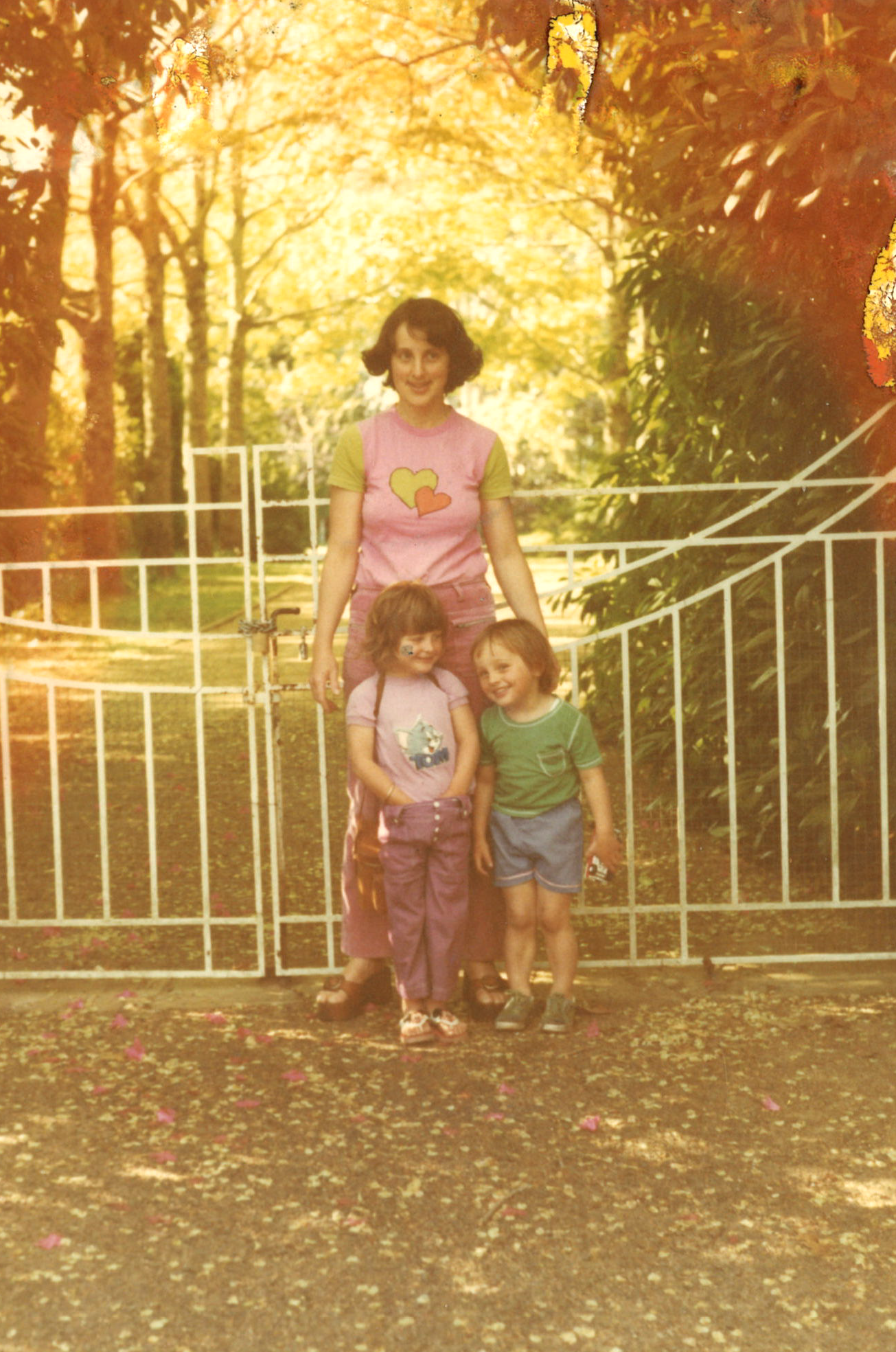 Marion with her children Owen and Sally.